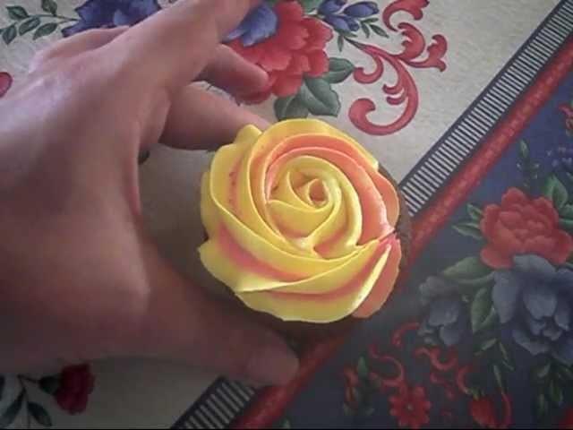 Two Toned Buttercream Roses Rosette Piping Tutorial