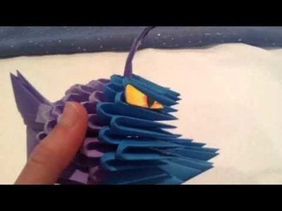 3d origami angler fish