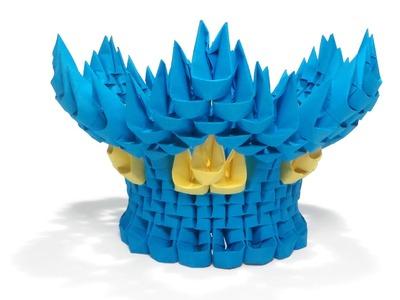 3D Origami Short Vase Tutorial