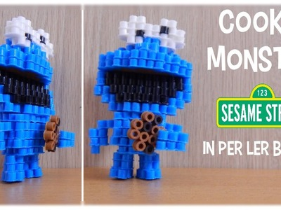 3D Perler Bead Cookie Monster (Sesame Street)