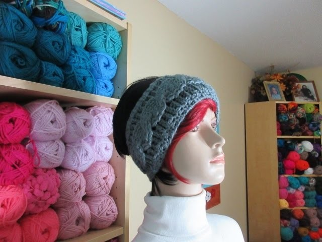 Crochet cable headband. With Ruby Stedman