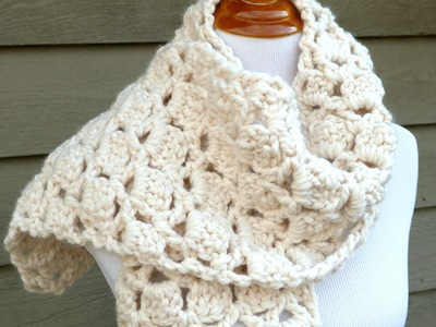 How To Crochet The Sugar Cookie Scarf, Episode 272