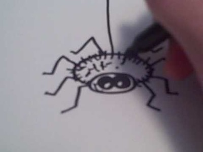How to Draw a Cartoon Spider