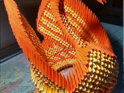 How to make a 3d origami big winged swan