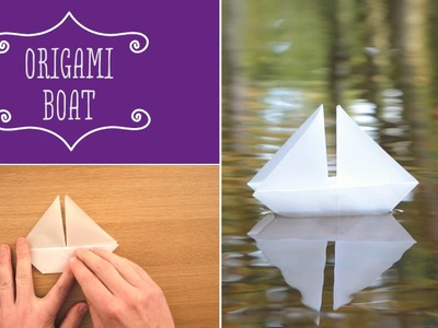 How to make an Origami Paper Boat | Craft Techniques
