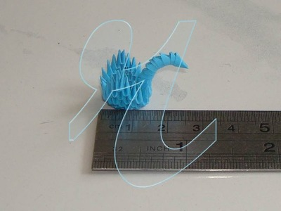 Make a Smallest 3D Origami Swan