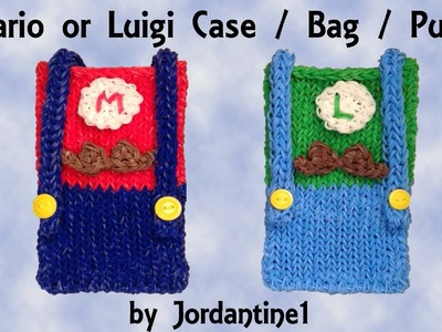 New Super Mario Bros Luigi Phone. Pencil Case. Purse. Bag - Rainbow Loom