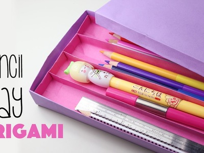 Origami Pencil Tray Instructions - Box with Sections