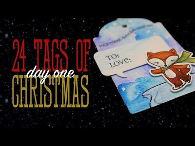 24 Tags of Christmas: Koi watercolors + Winter Pals