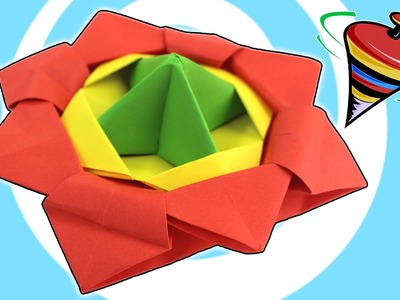 Action Origami Spinning Top Toy Video Tutorial