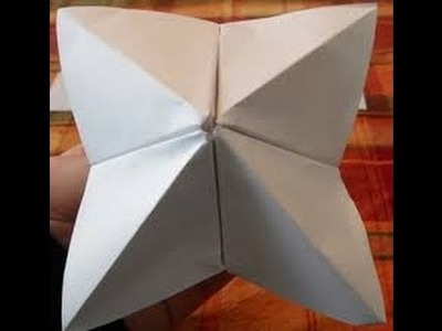 Basic Origami(B.O.B) ep 1 : How to make a origami cootie catcher Difficulty  easy