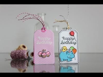 Boy and Girl birthday tags