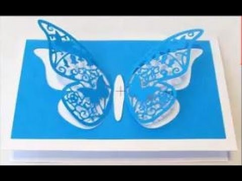 Create a Pop Out Butterfly and Flower Card
