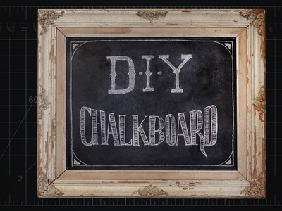Custom Chalkboard in Old Frame [DIY]
