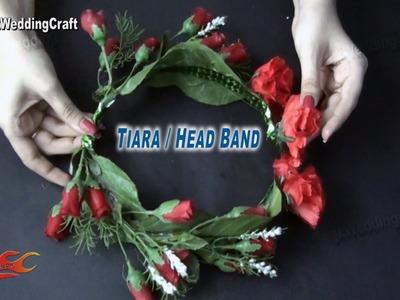 DIY Flower Tiara. crown | Wedding hair accessories | How to make - JK Wedding Craft 030