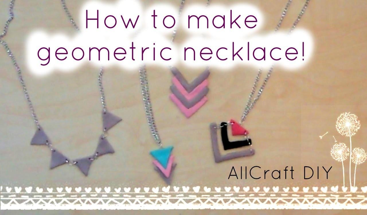 DIY.Geometric necklace!