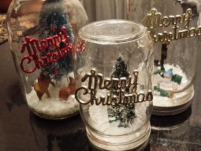 DIY Mason Jar Snow Globe Trial (No liquid)