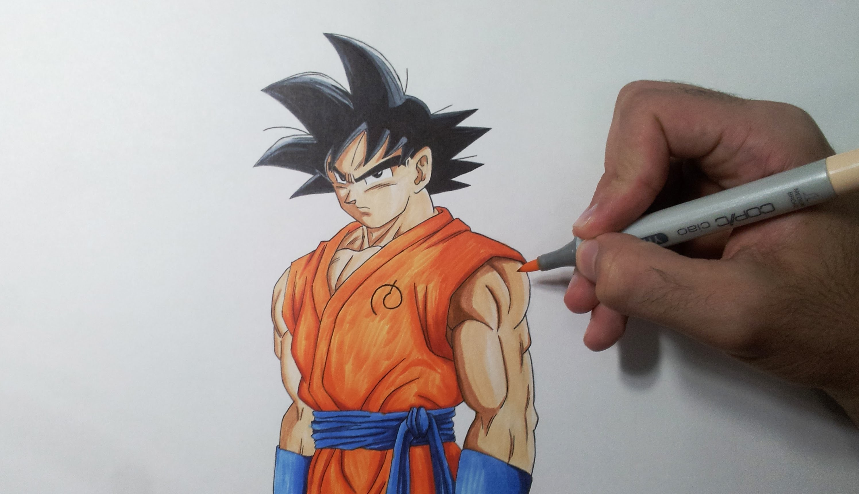 Drawing Goku - Resurrection F (Fukkatsu no F)