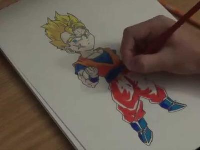 Drawing Super Saiyan Kid Future Gohan