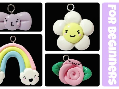 EASY Kawaii Polymer Clay Charms for Beginners Tutorial