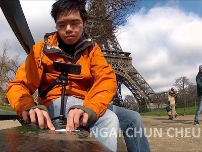 Eiffel Tower Origami, Part 1