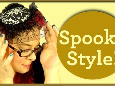 Halloween Fascinator DIY-A Spooky Collaboration with Miss Dimple Darling