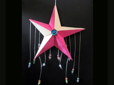 Home Made Star Wall Hanging.Origami 3d Star