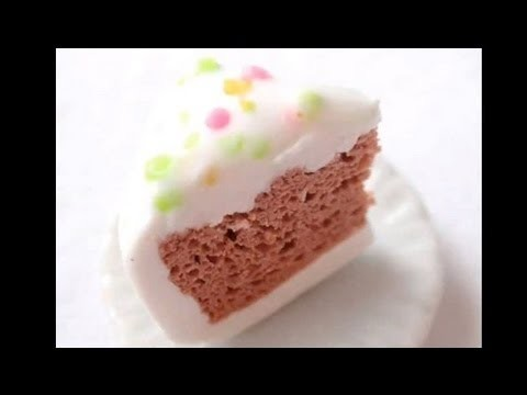 How to BAKE a cake (spongey polymer clay texture)