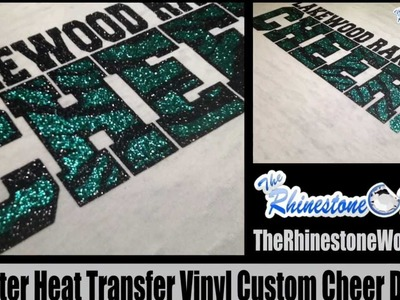 How To Layer Glitter Heat Transfer T Shirt Vinyl From The Rhinestone World