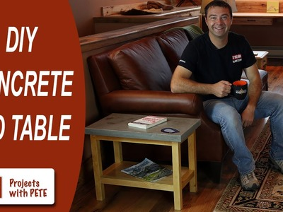 How to Make a Concrete Table   How to embed sliced agate, fossils, and coins in concrete