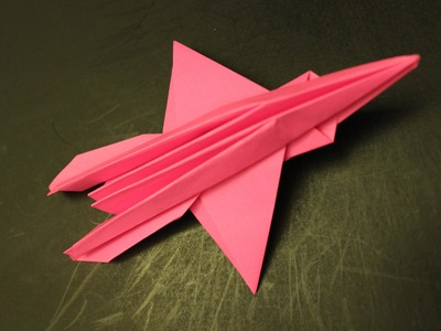 How to make a cool paper plane origami: instruction| Alien Airplane