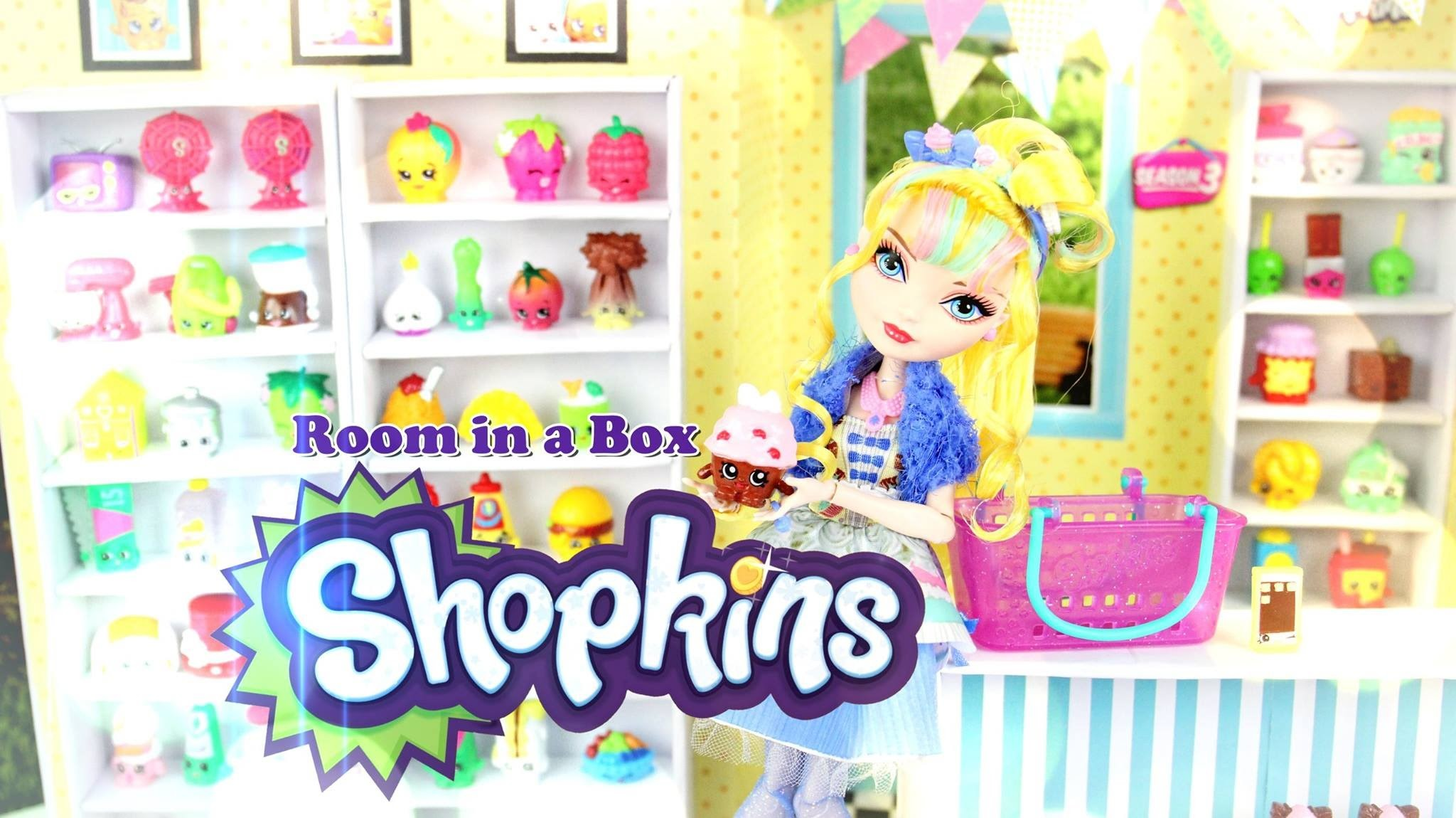 How to Make a Doll Room in a Box: Shopkins - Doll Crafts