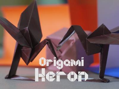 How to make a Origami Heron
