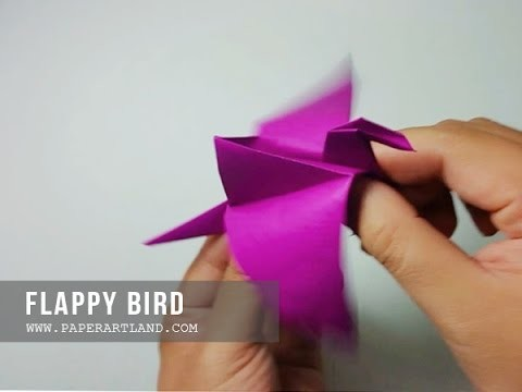 How to Make a Paper Flapping Bird - Origami Pájaro Batiendo