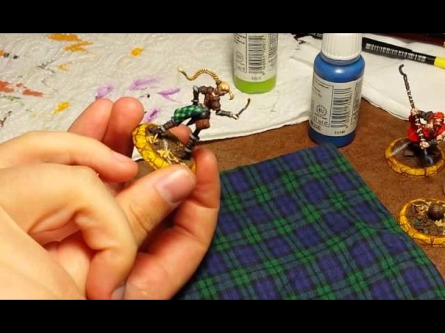 How to Paint Blackwatch Tartan