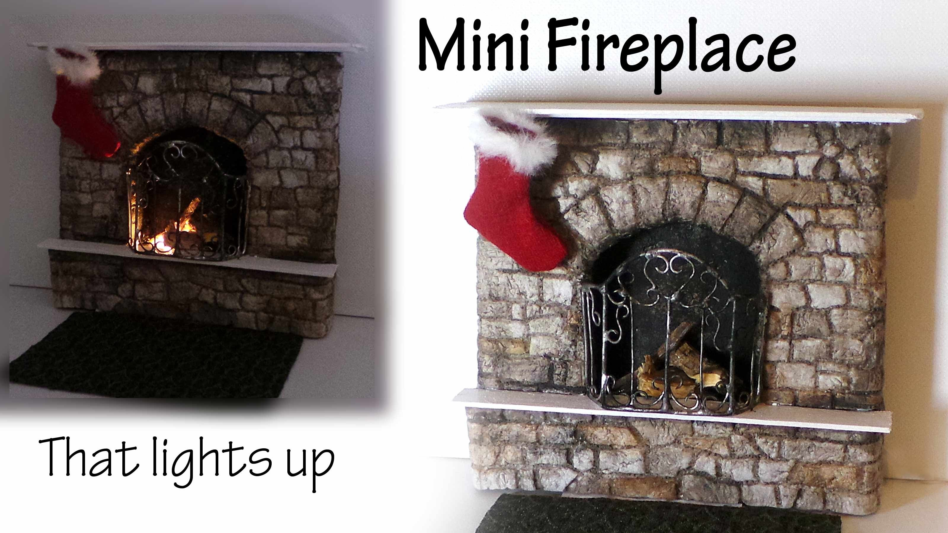 Miniature Fireplace Tutorial - Polymer Clay & Mixed Media