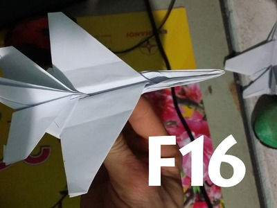 Origami HOw to make an F16 Jet FIghter