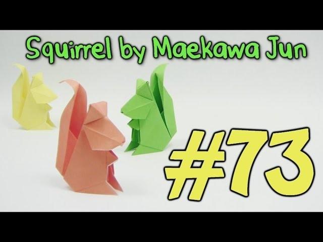 Origami SQUIRREL by Maekawa Jun  - Yakomoga Origami tutorial