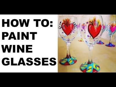 Painted Wine Glasses Tutorial