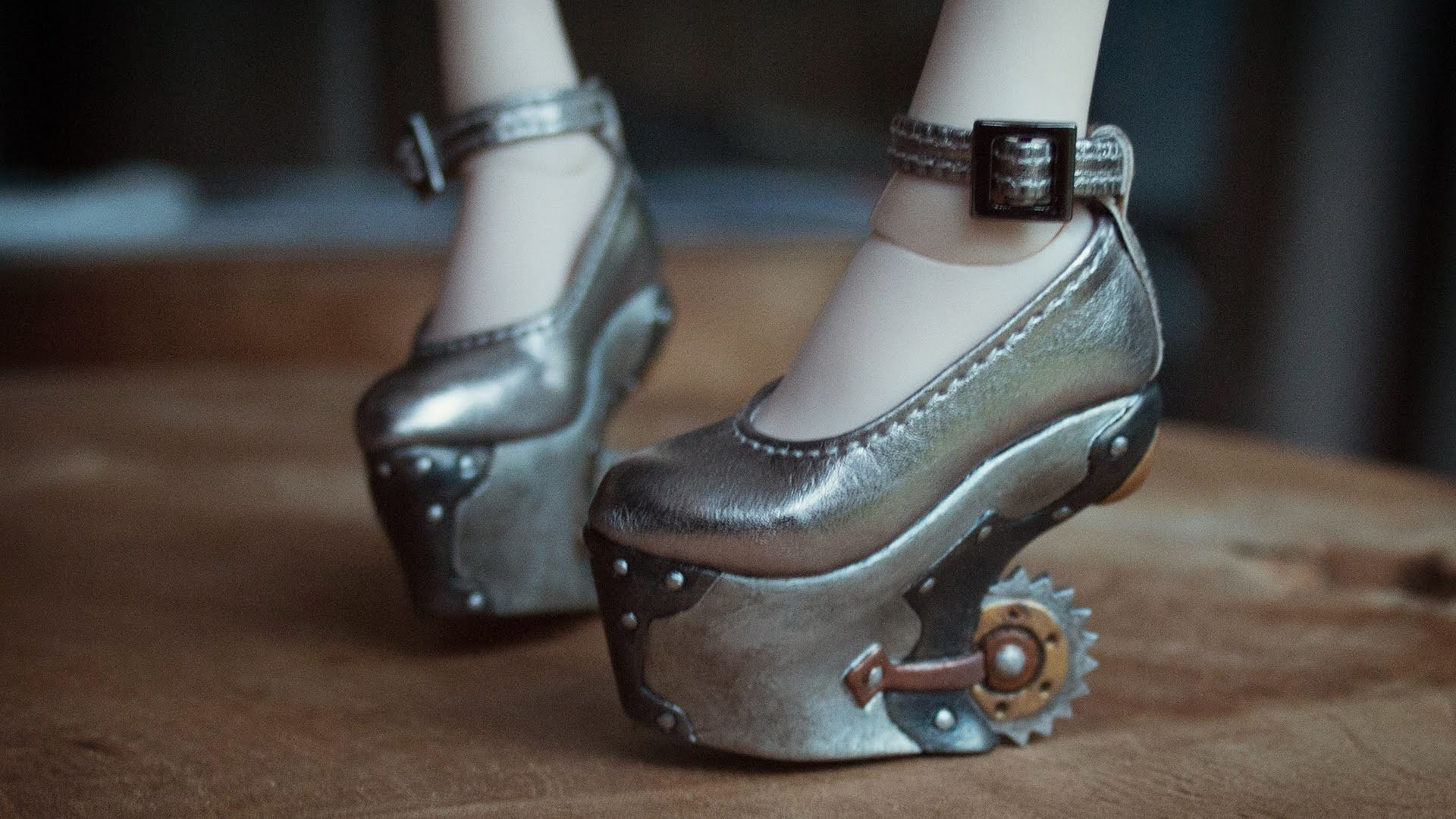 Painting Fairyland Steampunk Shoes - BJD accessory