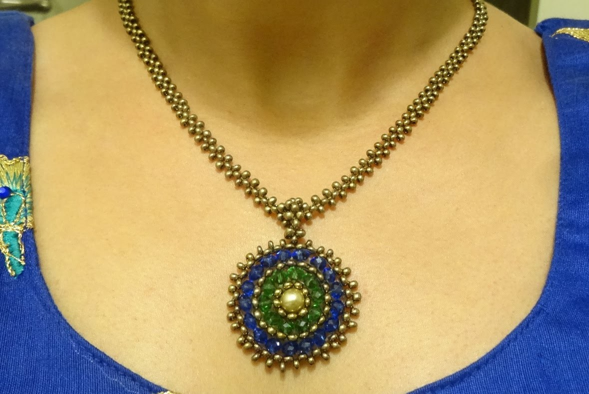 Part II: How to make beaded bail, chain and clasp