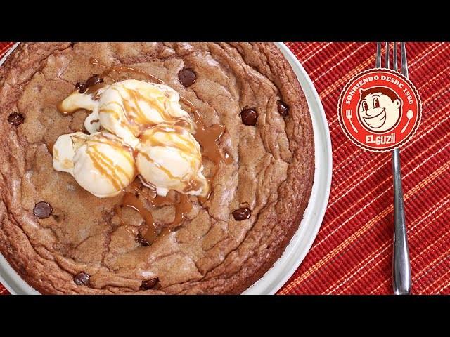 PIZZA DE CHOCOLATE CHIP (GALLETA GIGANTE) - COMO HACER GALLETAS - EL GUZII