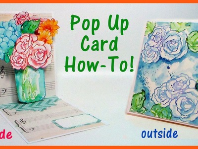 Pop Up Problems and Easy Watercolor Stamping!