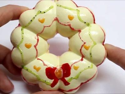Squishy Deco #5: Christmas Wreath Donut