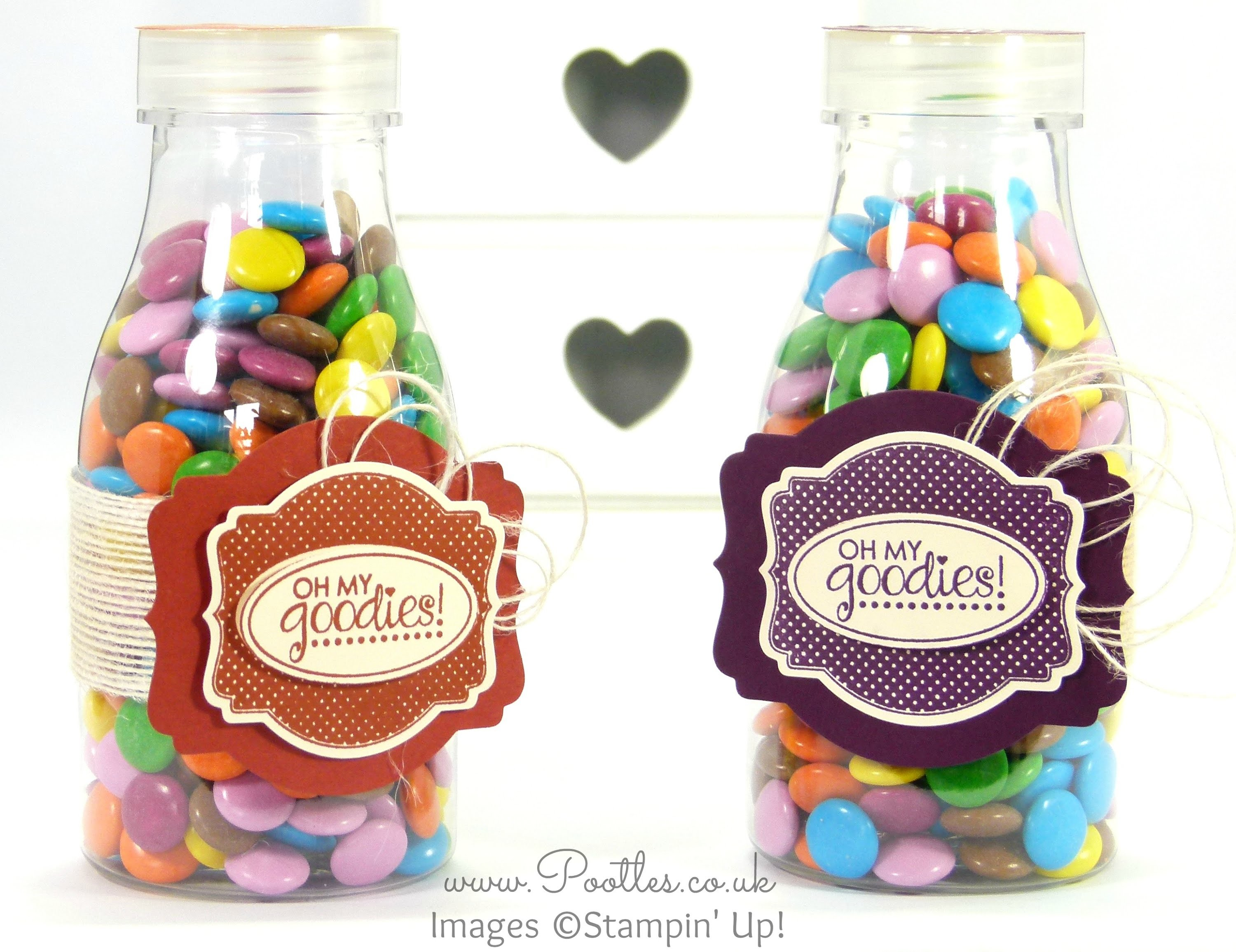 Stampin Up! Father's Day Sweetie Bottle Gift with Deco Labels