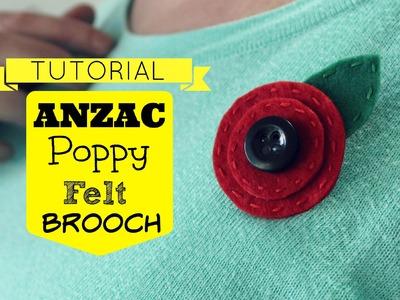 TUTORIAL: ANZAC Poppy Felt Brooch
