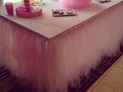 Tutu table skirt tutorial: part 2