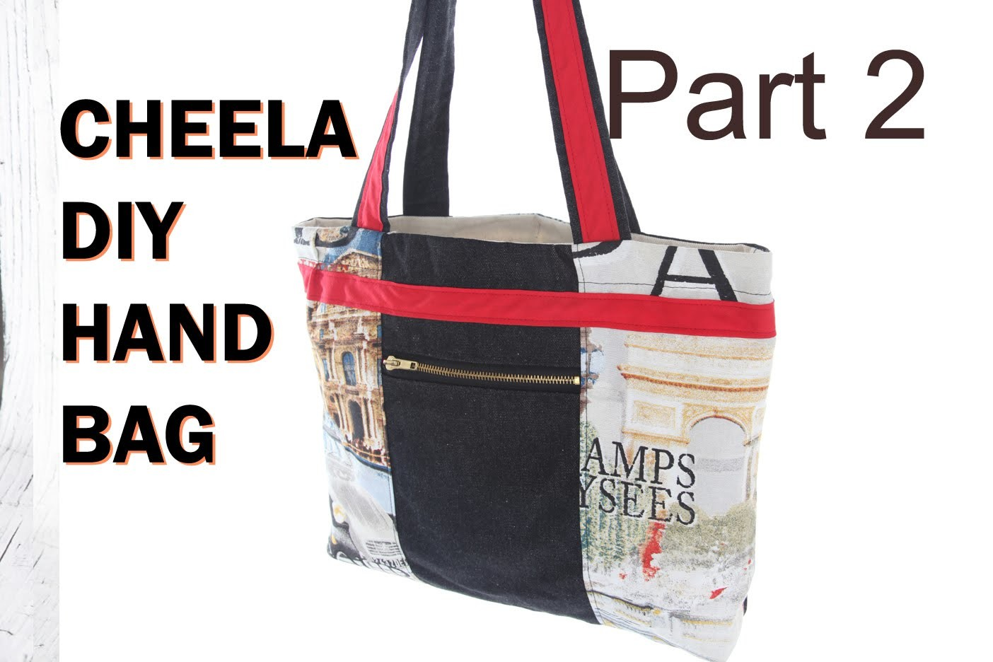 Cheela Version 2b. with zip pouch and lining. DIY Bag Vol 19B