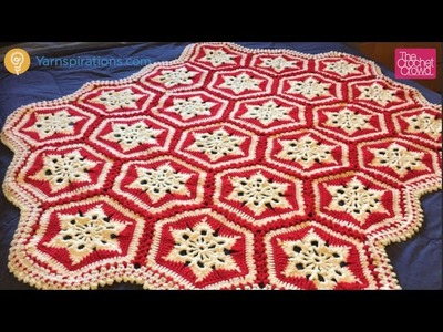 Crochet Scandinavian Snowflake Afghan Tutorial