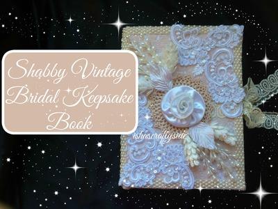 Custom made Bridal Keepsake Book   Shabby Vintage Style for KS4U